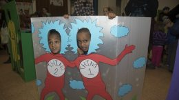 """Thing 1"" and ""Thing 2"" at the carnival"